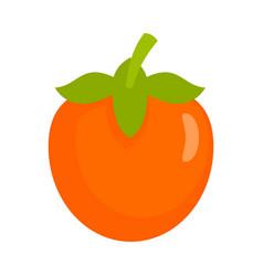 Fresh persimmon icon flat style vector