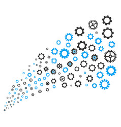 Gears and cogs source stream vector