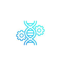 Gene editing genetics icon vector