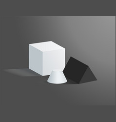 geometric figures isolated on grey background vector image