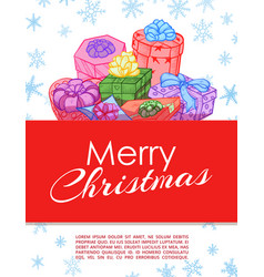 gifts festive hand drawn banner or frame vector image
