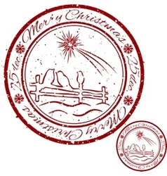 Grunge christmas stamp vector