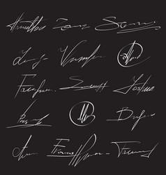 hand signature handwritten delivery service vector image