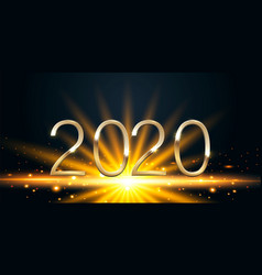 happy new year 2020 golden numbers on a black vector image
