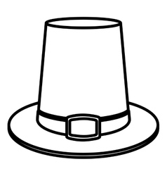 Hat of thanksgiving design vector