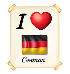 I love German vector image