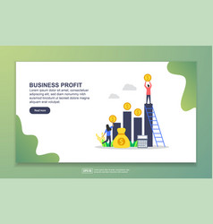landing page template business profit modern vector image