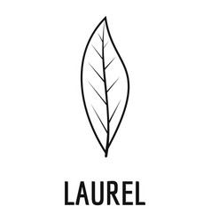 Laurel leaf icon simple black style vector