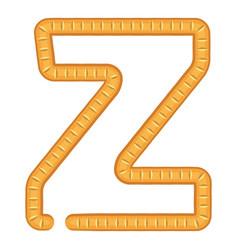 letter z bread icon cartoon style vector image