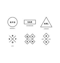 line logo set set of simle logo in modern vector image