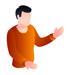 man take hand icon isometric style vector image