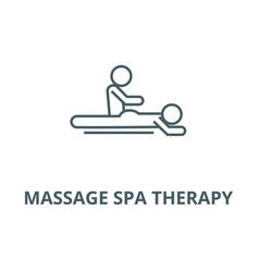 Massage spa therapy line icon linear vector