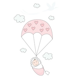 New baby girl vector image