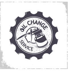 oil change services logo vector image