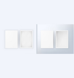 Open blank white box with soft and side light vector