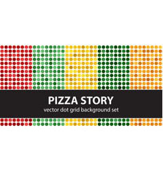 polka dot pattern set pizza story seamless vector image