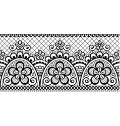 seamless pattern retro wedding lace design vector image