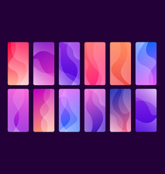 set 12 beautiful and trendy wallpapers for vector image