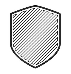 shield in monochrome contour and stripe design vector image