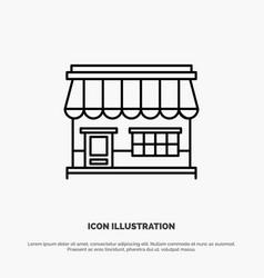shop online market store building line icon vector image
