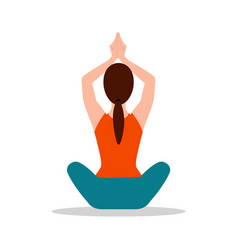 Sitting position yoga pose vector