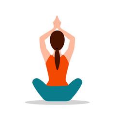 sitting position yoga pose vector image