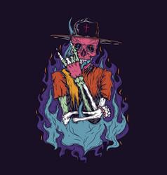 Skeleton neon vector