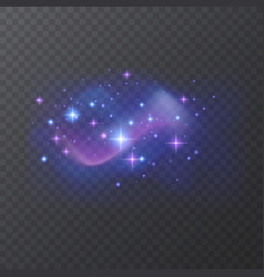 Space background with nebula and shining stars vector