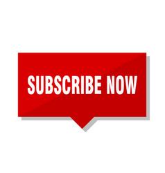 Subscribe now red tag vector