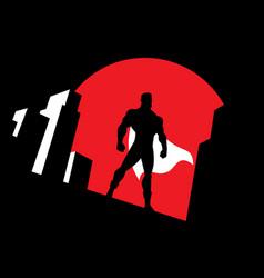 superhero background symbol vector image