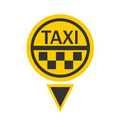 taxi logotype in round shape isolated on white vector image