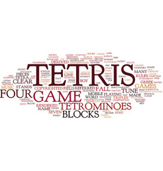 Tetris text background word cloud concept vector