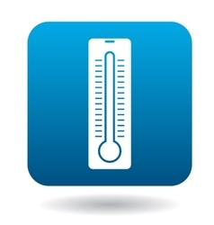 Thermometer icon in simple style vector image