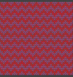 Tile zig zag knitting pattern or winter background vector