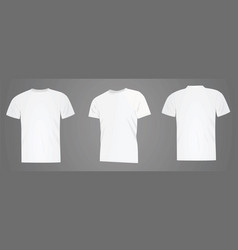 white t shirt vector image