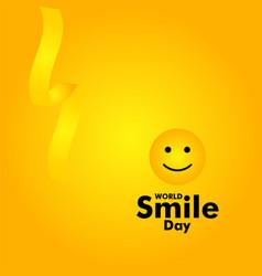 World smile day template design vector