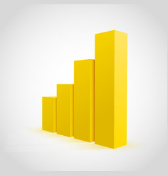 yellow graph chart background vector image