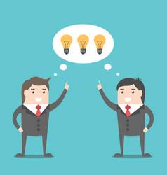 businessmen sharing ideas vector image vector image