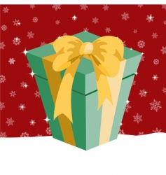 Christmas presents box vector image