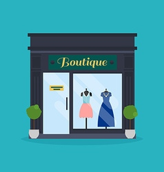 Fashion boutique facade Clothes shop Ideal for vector image vector image