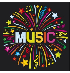 Music firework vector image vector image