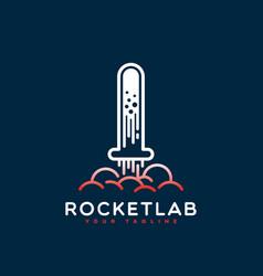 Rocket lab logo vector