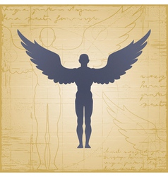 Winged man vector image
