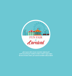 amusement park and carnival banner vector image