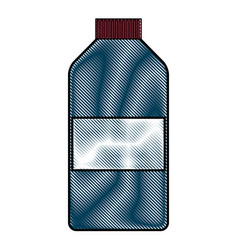 drawing bottle medicine pharmacy image vector image vector image