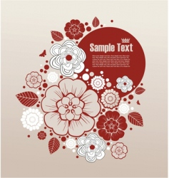 floral frame for text vector image vector image