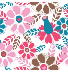 floral wallpaper vector image