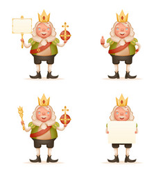 king cute cheerful ruler blank paper thumb up vector image vector image