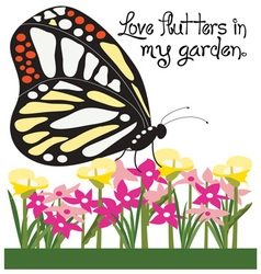 Love Flutters vector image