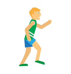 running man sports icon vector image vector image